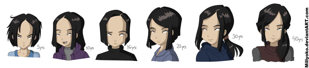 Yumi aging by Millyoko