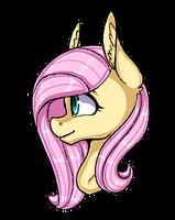 Fluttershy Headshot by Pinipy