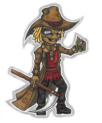 Scarecrow Marker Chibi by Drasamax
