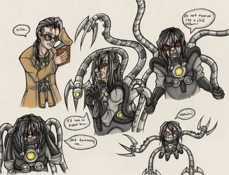 Doctor Octopus Doodles by Drasamax