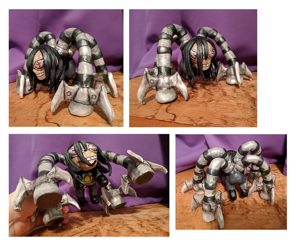 Super Sculpey Chibi Doctor Octopus by Drasamax