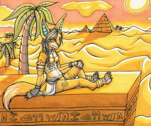 Golden Desert Jackal by Drasamax