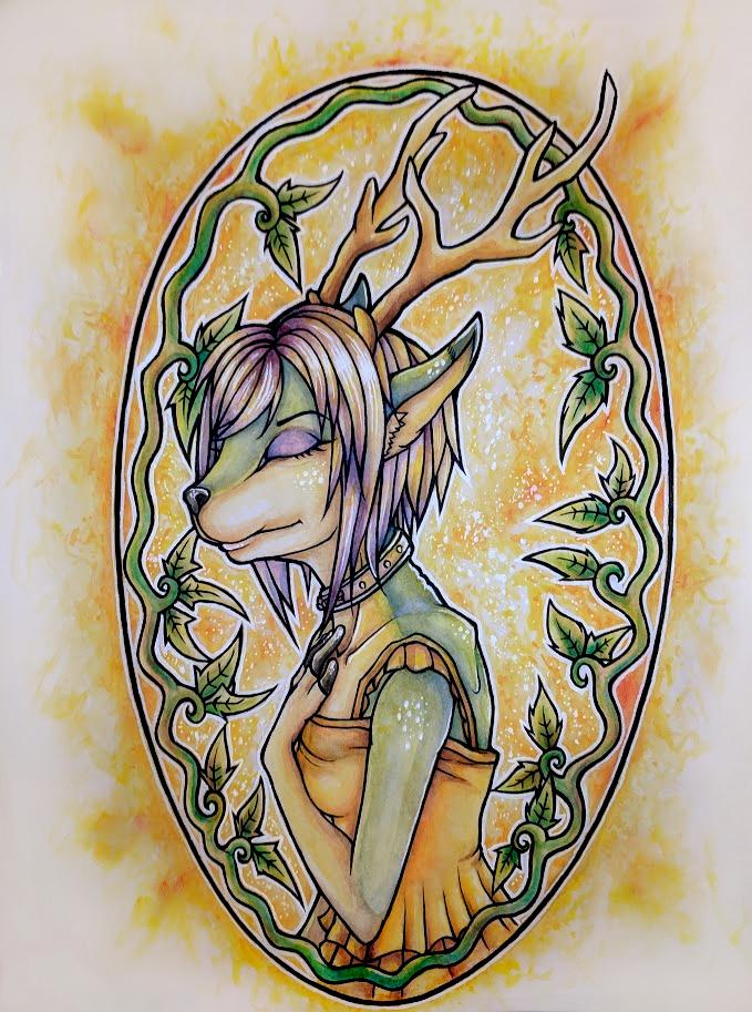 Watercolor: Goat/Elk by Drasamax