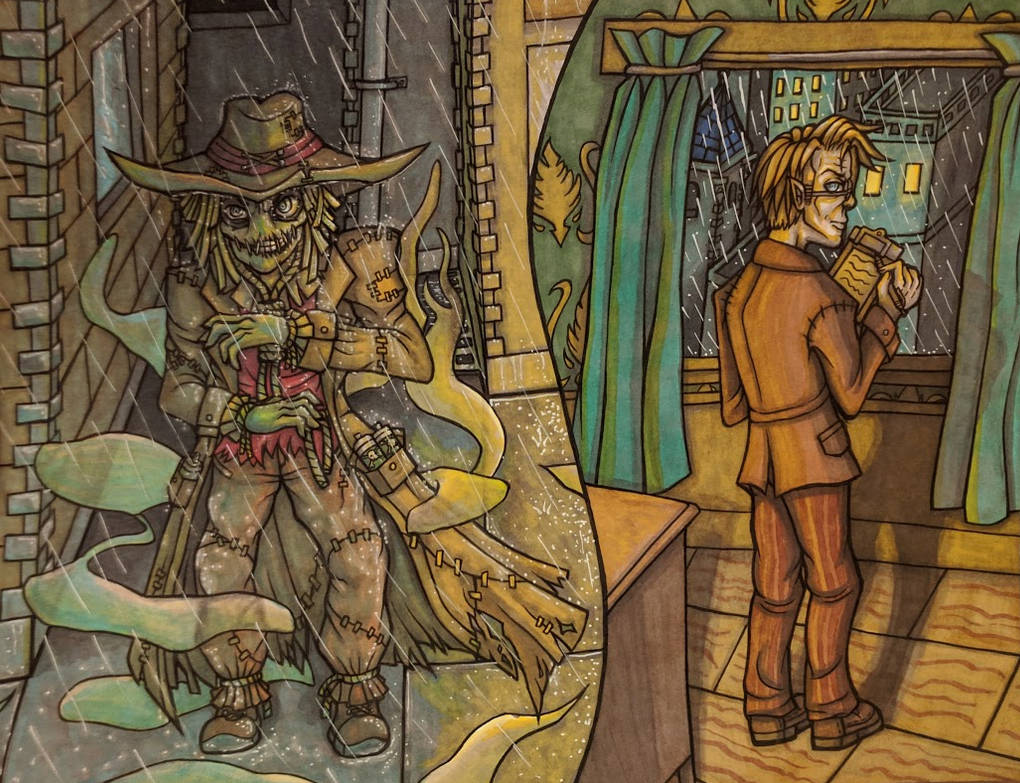 Scarecrow/Jonathan Crane by Drasamax