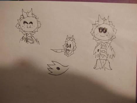 Some Sonya the Sun Chomper Doodles