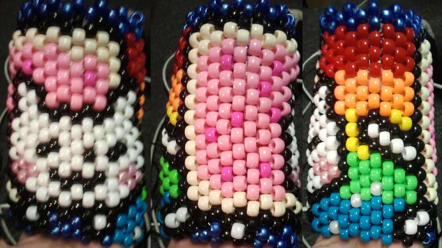 Nyan Cat Kandi Cuff by anne-t-cats