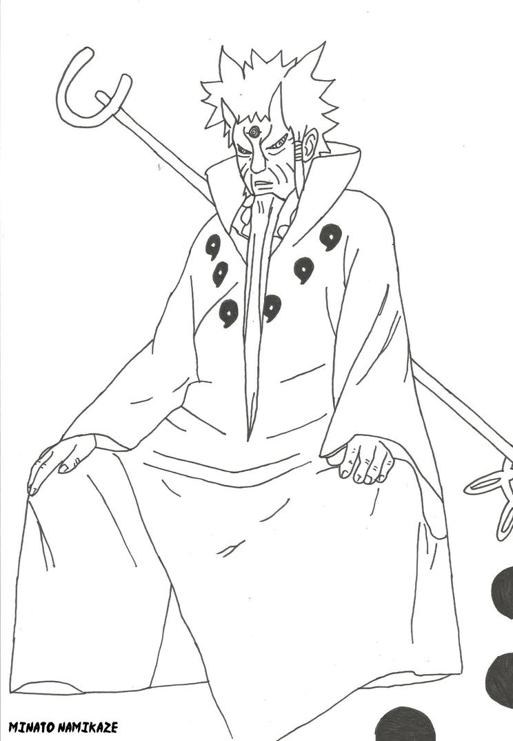 Naruto Sage Of Six Paths Coloring Pages Sketch Coloring Page