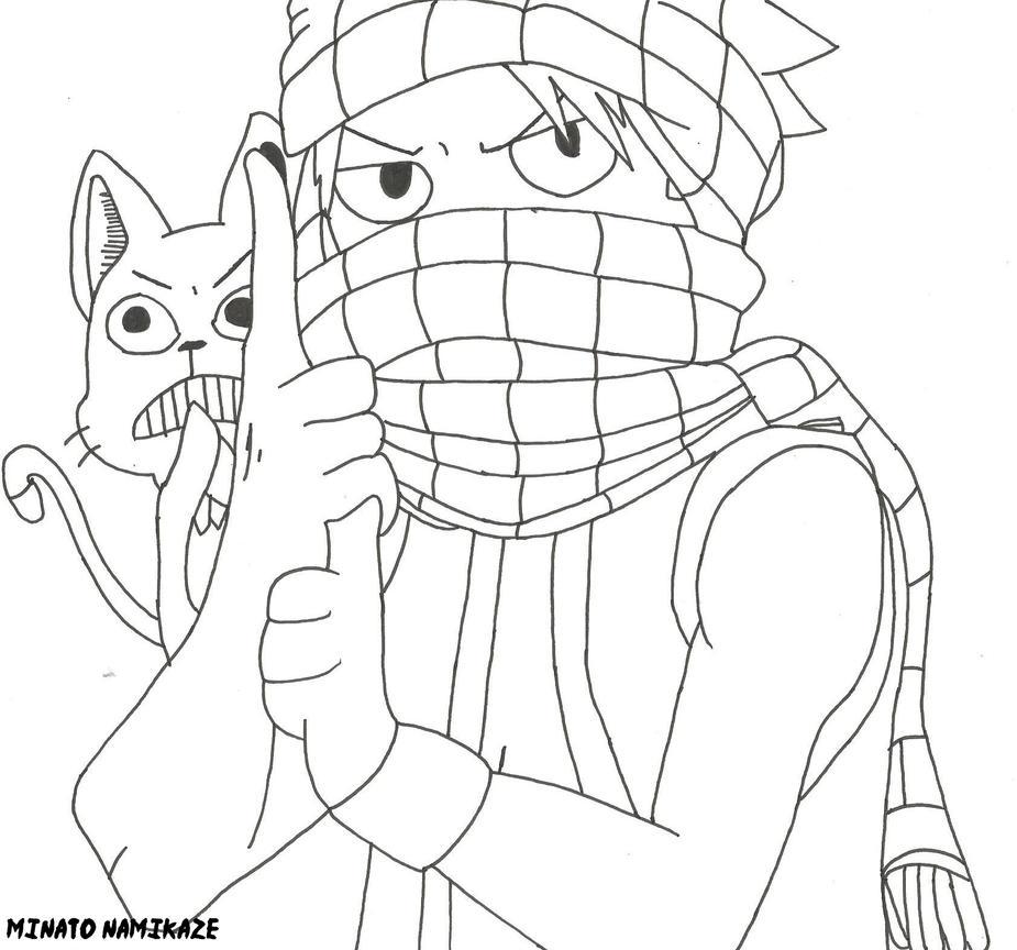 ninja natsu by 4thminatonamikaze on deviantart