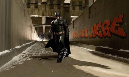 Skateboarding Batman
