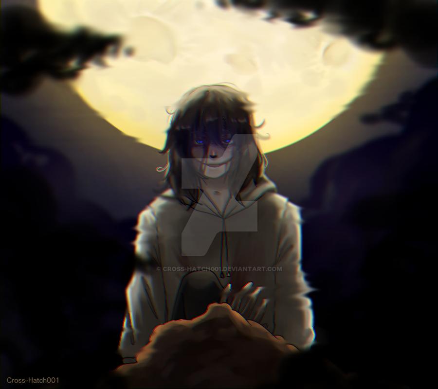 |Jeff the killer| Moon by Cross-Hatch001