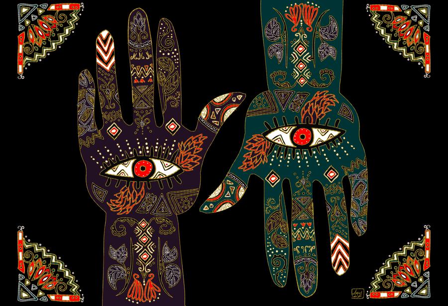 Egyptain HAMSA HAND By Zenbolic Vision