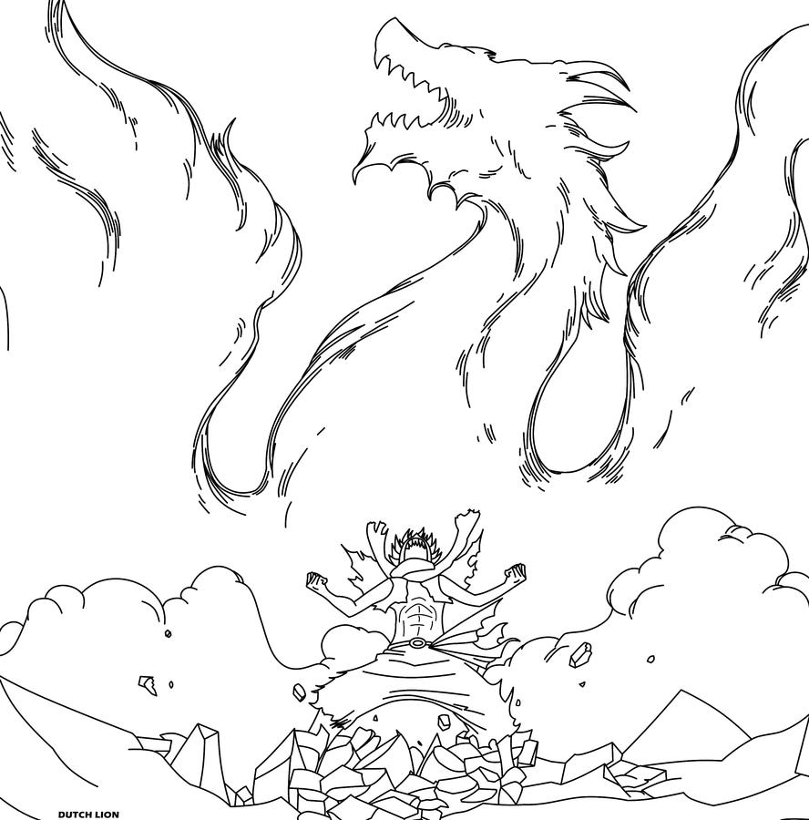 Natsu the dragonslayer lineart by dutchlion on deviantart for Fairy and dragon coloring pages