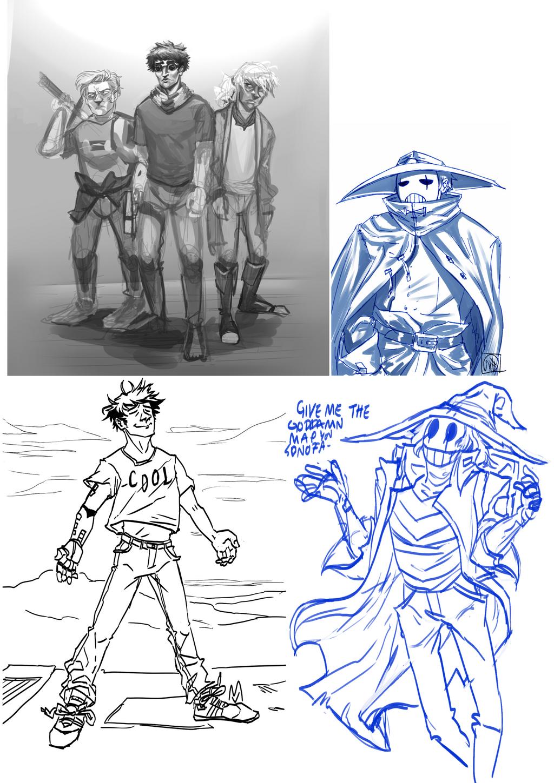 Nextuus sketches by ATadMad