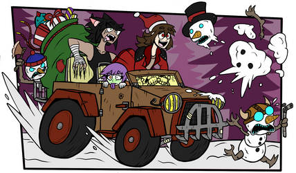 Happy Snowman Hunting! by Luney-Lunic