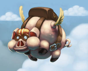 Flying pig by DaniloFiocco