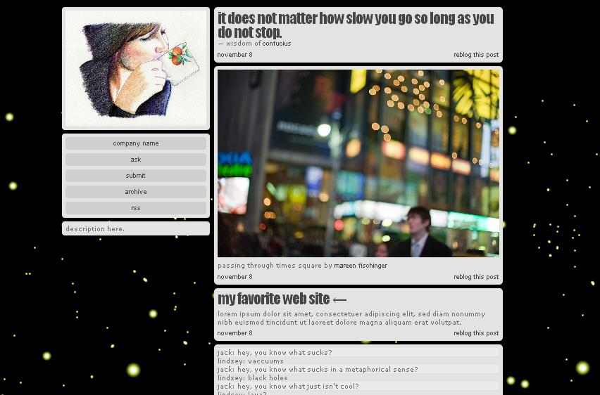 Tumblr theme 39 black 39 by nisarizky on deviantart Black and white themes for tumblr
