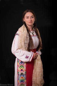 Traditional Romanian costume from Dobrogea