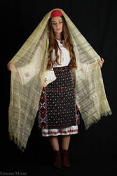 Romanian traditional dress from south of Dobrujia