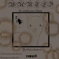 !Wanted! Llama Sender by LaurieLauriense