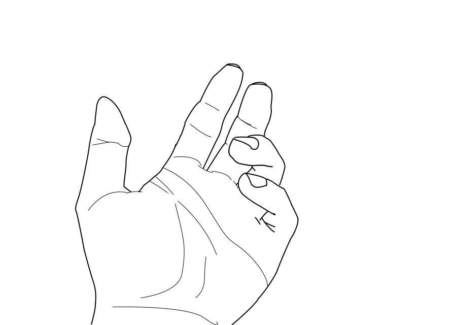 Line Art Hand : Realistic hand lineart by erinrocks on deviantart