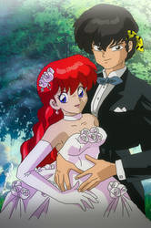 Ranma chan and Ryoga Wedding Picture by Hainfinkle