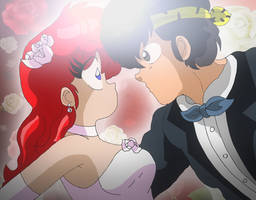 Ranma chan and Ryoga Wedding Picture 2 by Hainfinkle
