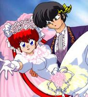 Ranma chan Wedding 4 by Hainfinkle