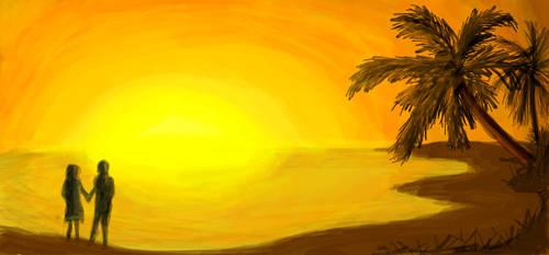 SunsetCouple by wolviechick121