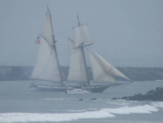 Ship at Sea by wolviechick121