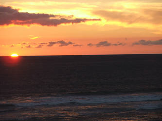 Beach Sunset by wolviechick121