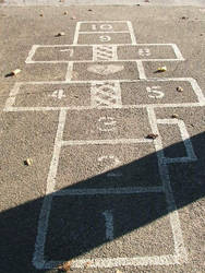 Hopscotch in Fall by wolviechick121