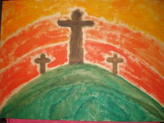 Three Crosses by angelvelvet