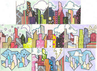 ATCs - Mini City Scapes by Bonzo-1039