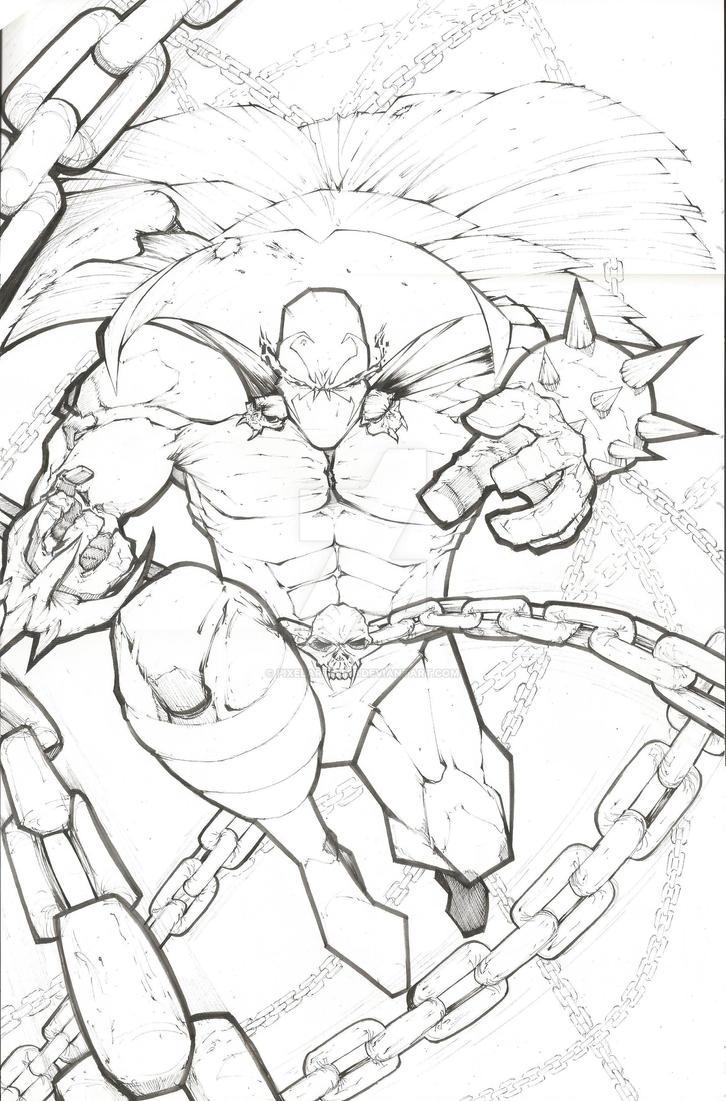 Spawn sketch by PixelArtist95