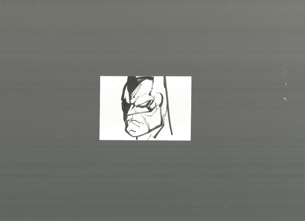 Batman Sketch Card done without any pencils by PixelArtist95