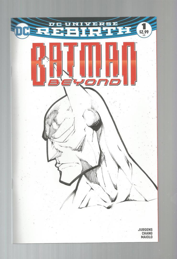Batman Beyond 1 sketch cover by PixelArtist95