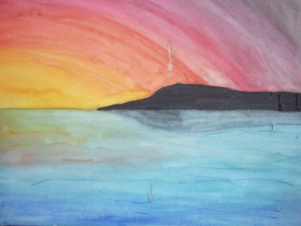 Watercolor Sunset by argentiaertheri on DeviantArt