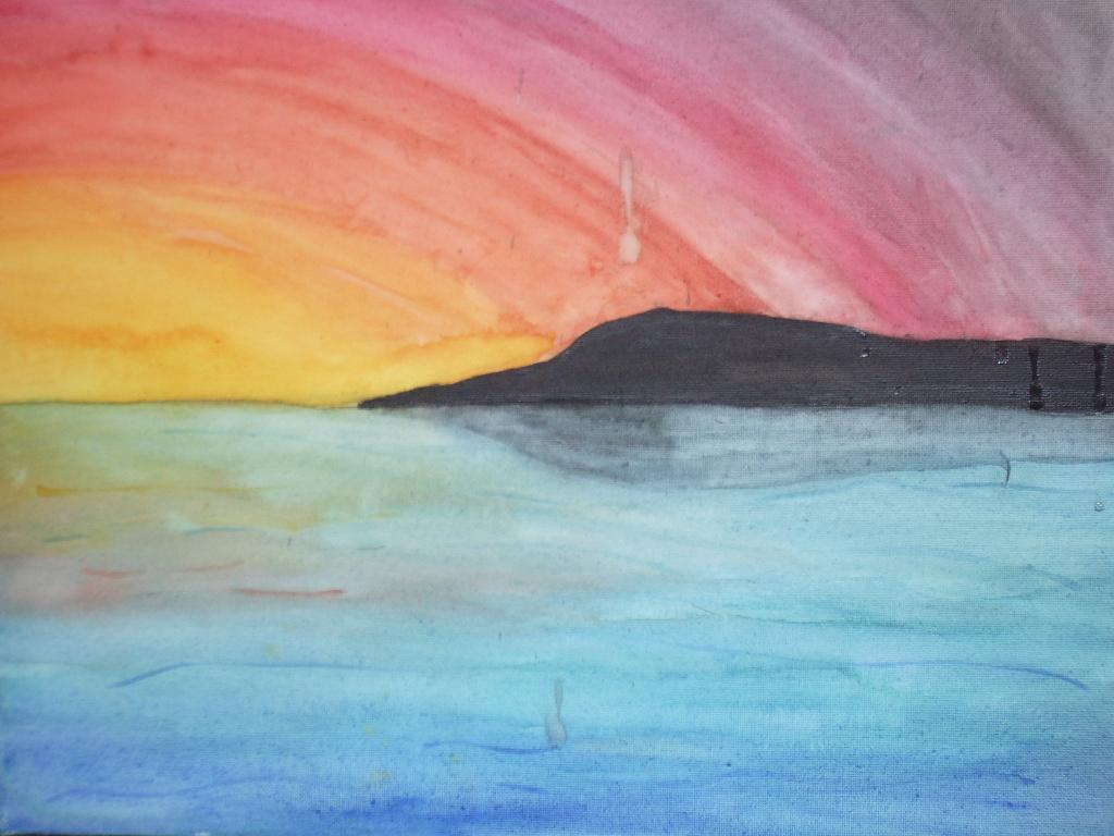 Watercolor Sunset by argentiaertheri on DeviantArt