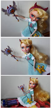 EA: Blondie Locks custom doll as Star Butterfly