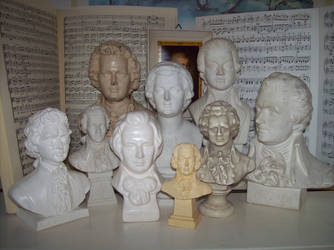The Many Faces Of Mozart by Bonnzai