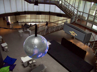Evoluon Eindhoven Interior With Disco Ball by Bonnzai