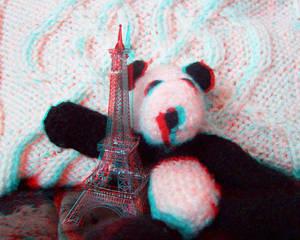 3D Panda Plus Eiffel Tower