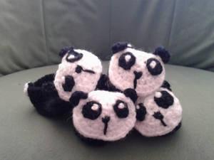 Panda crochet baby booties
