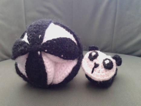 Crochet Amish Puzzle Ball Plus Panda Baby Bootie
