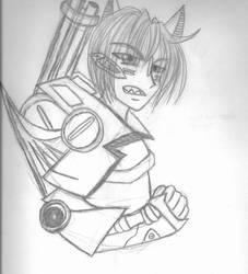 Sketch 2 (Human ShadowFox) by ChosenKaze
