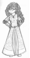 Merida Sketch by ChosenKaze