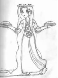 Rapunzel Sketch by ChosenKaze