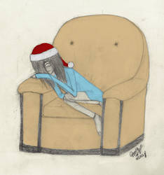Waiting for Santa by draw-girl