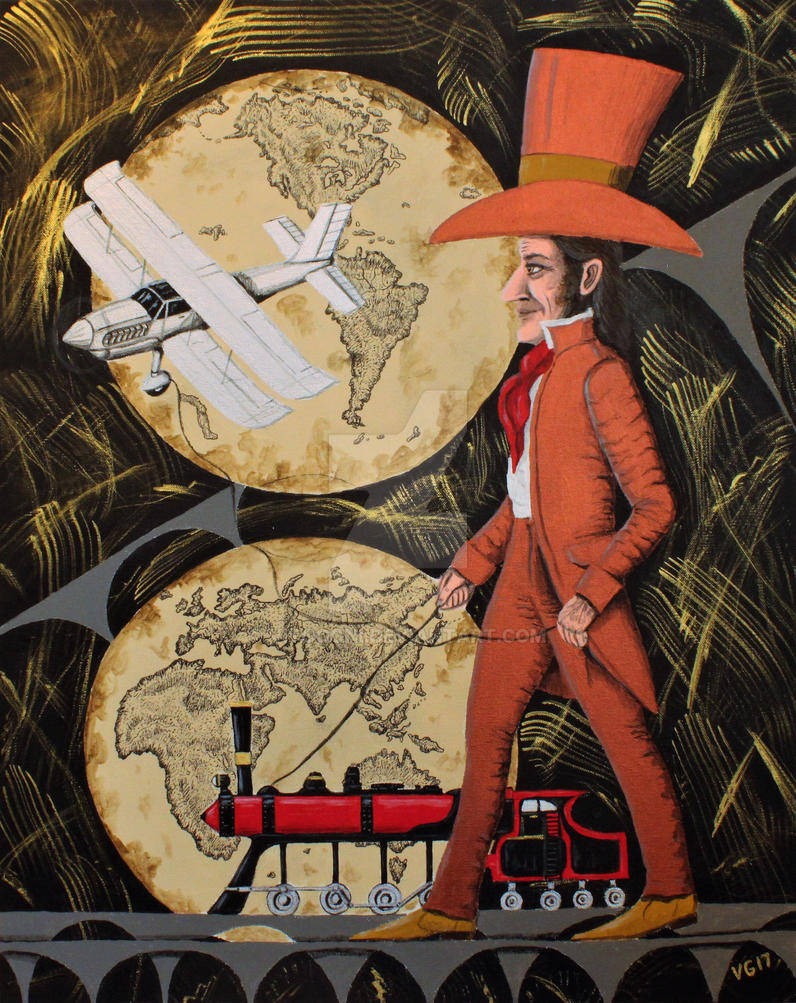 Inventor. Mixed media on canvas. by Vitogoni