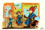 On patrol together, Zootopia